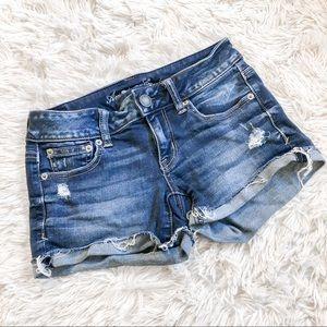 American Eagle Super Stretch Denim Jean Shorts 0
